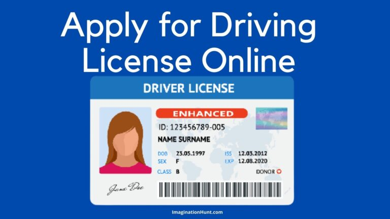Apply Driving License Online