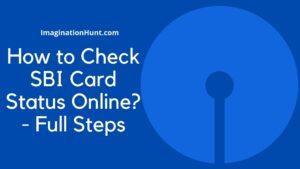 SBI Card Status Online