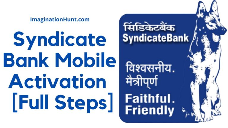 Syndicate Bank Mobile Activation