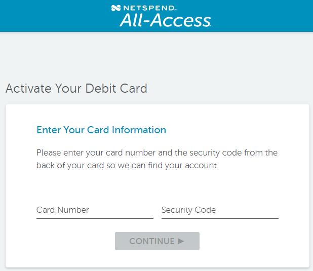 NetSpendallAccess com Activate