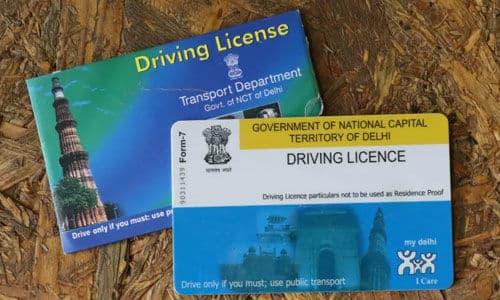 Legal provisions regarding driving license